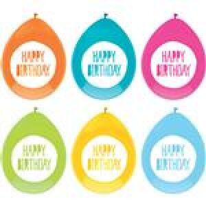 Ballonnen Festive Colors 30cm 6st