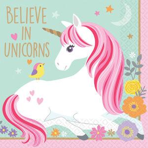 Papieren servetten Unicorn klein