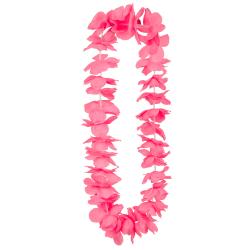 Hawaïkrans Ohana deluxe neon roze
