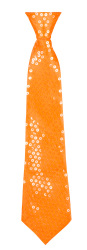Stropdas ''Spangles'' - oranje