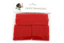 Zweetbandjes set van 3 - rood