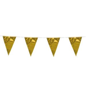 Metallic vlaggenlijn Goud 10m