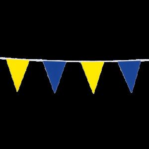 Vlaggenlijn blauw & geel 10m