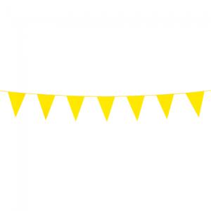 Mini vlaggenlijn geel