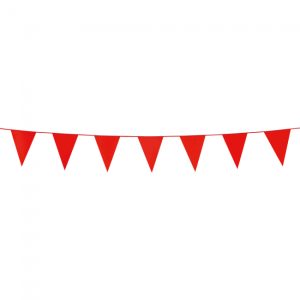 Mini vlaggenlijn rood 3