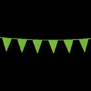 Mini vlaggenlijn light groen