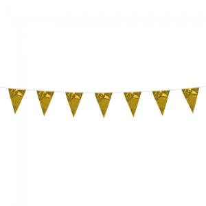 Mini metallic vlaggenlijn goud