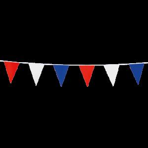 Mini vlaggenlijn rood- wit- blauw