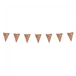 Mini metallic vlaggenlijn rosé goud