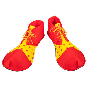 Stoffen clownsschoenen
