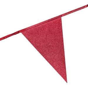 Glitter vlaggenlijn rood
