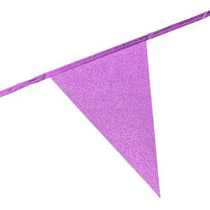 Glitter vlaggenlijn baby pink