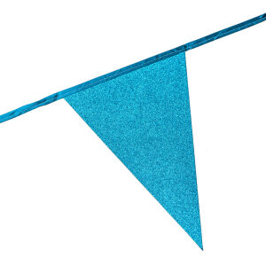 Glitter vlaggenlijn baby blauw