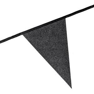 Glitter vlaggenlijn zwart
