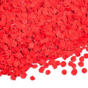 Confetti 100 gram rond 1cm rood