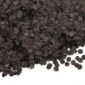 Confetti 100 gram rond 1cm zwart
