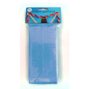 Crepe Garland 6m Baby Blauw