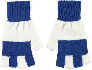 Vingerloze handschoen Blauw / Wit
