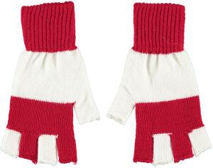 Vingerloze handschoen Rood / Wit