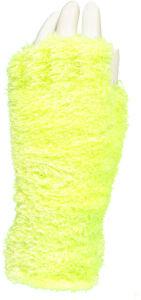 Handschoenen ''Fluffy'' - fluor geel