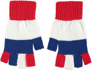 Vingerloze handschoen Rood/Wit/Blauw