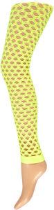 Legging gaten neon geel