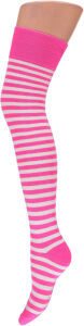 Knee over socks wit-roze
