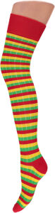 Knee over socks rood-geel-groen