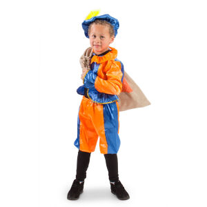Pietenpak Blauw-Oranje - Kindermaat