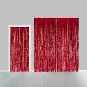 Deurgordijn 1x2,4m brandvertragend rood