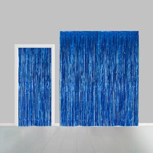 Deurgordijn 1x2,4m brandvertragend blauw