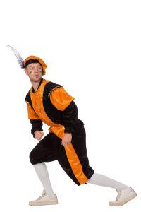 Pieten Kostuum Unisex - zwart/oranje