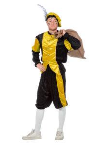 Pieten Kostuum Unisex - zwart/geel