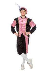 Pieten Kostuum Unisex - zwart/roze