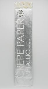 Metallic Crepe papier 50x150cm zilver