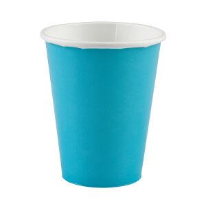 Bekers papier baby blauw 266ml