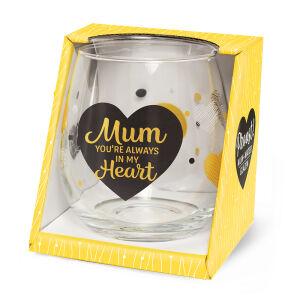 Waterglas Proost Mum always heart