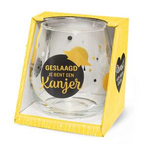 Waterglas Proost Geslaagd kanjer