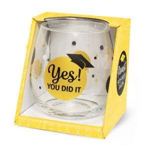 Waterglas Proost Geslaagd yes you did it