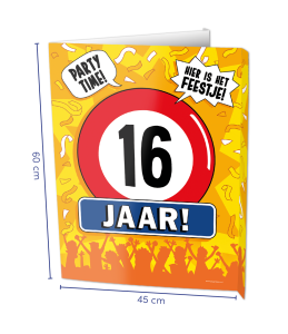 Window sign 16 jaar