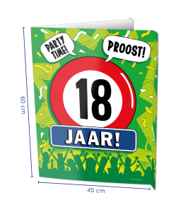 Window sign 18 jaar