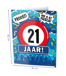 Window sign 21 jaar