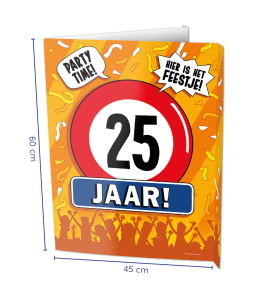 Window sign 25 jaar
