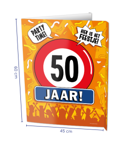 Window sign 50 jaar