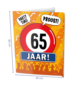 Window sign 65 jaar