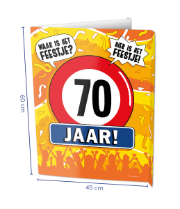 Window sign 70 jaar
