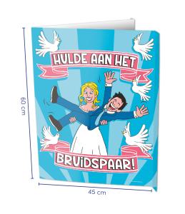 Window sign Bruidspaar