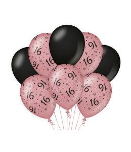 Ballonnen Cheers to 16 years rosé/zwart