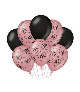 Ballonnen Cheers to 40 years rosé/zwart