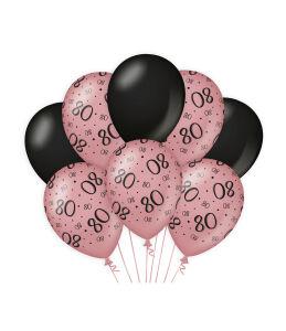 Ballonnen Cheers to 80 years rosé/zwart